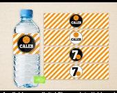 Basketball Water Bottle Labels -  Basketball Water Bottle Wraps - Sports Bottle Labels- Basketball Party Decor - Digital & Printed