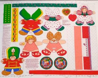 Nutcracker Fabric Panel Set 1991 Vintage Cheryl Ann Johnson Clara Cut and Sew Pillows Sugar Plum Stuffed Toys Believe in Christmas Hugs