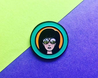 Daria / Feminism / Women's rights / Enamel Pin / Girl Power / Pin Game