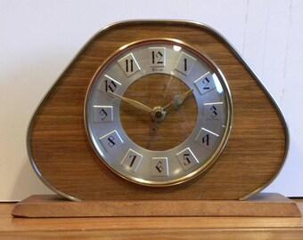 Vintage Clock - Albion Shelf Clock - Recycled Mantel Shelf Clock - 1970's Clock