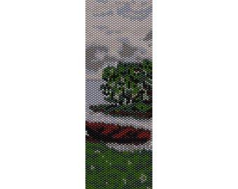 Lake 5 Peyote Bead Pattern, Bracelet Pattern , Bookmark Pattern, Seed Beading Pattern Miyuki Delica Size 11 Beads - PDF Instant Download