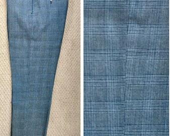 Vintage 1960's Men's Plaid Pants Sears Kings Road Perma Prest Plaid Slacks MEDIUM