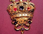 Coronation Pin for the  Red Hat Queen 2017,/2016,  2015, 2014,  , etc.Magnetic Clasp
