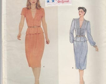 Pin Tuck Blouse & Skirt Pattern Vogue Designer 2361 Size 10 Uncut with Label