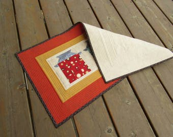 Table Runner, Table topper, quilted table runner, farmhouse, milk can, country, vintage, patchwork table runner