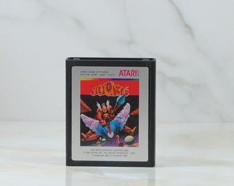 Vintage Atari 2600 Game Joust, Williams Electronics, 1982, Knights, Armored Buzzards, Buzzard Riders, Bounders, Shadow Lords, Hunters