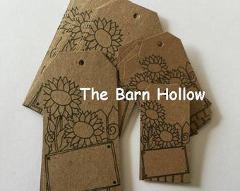 Sunflower hang tags/price tags