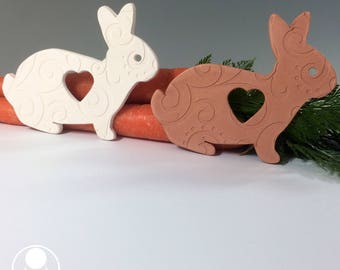 Some Bunny Loves You Ornament / Ceramic / Bunny Rabbit / Mothers Day / Love / Gift