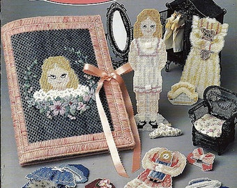 Laura's Doll in Plastic Canvas Pattern Paper Doll's and Clothes Annie's Attic 87L78