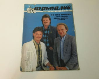 Bluegrass Unlimited Vol. 25, No. 6 (December 1990) - Reno Brothers cover ~ vintage 90s Music Magazine back issue