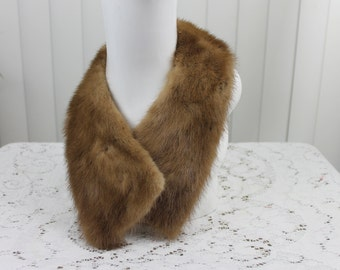 Vintage Fur Collar Brown