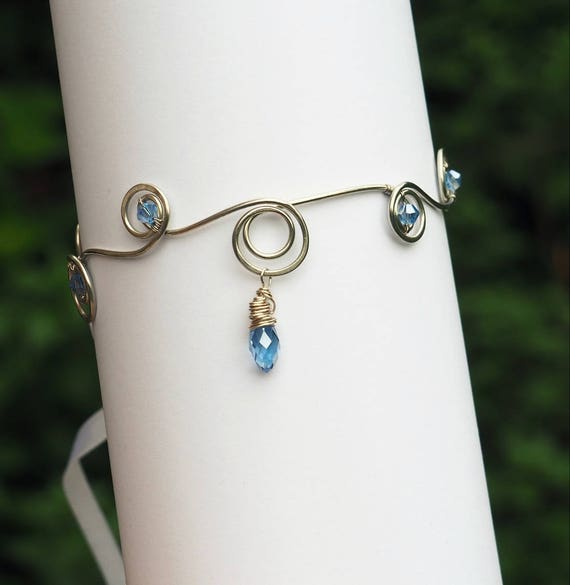 Light blue arm cuff
