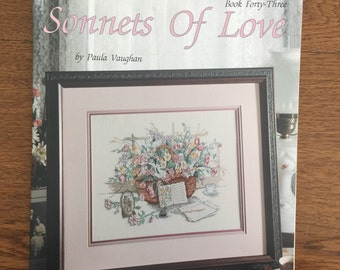 Counted Cross Stitch Pattern Chart by Paula Vaughan - Sonnets of Love - Book Forty Three, Leaflet 2107