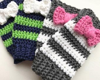 Hand Crocheted Leg Warmers