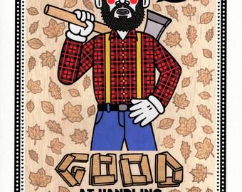 Lumberjack - A4 print