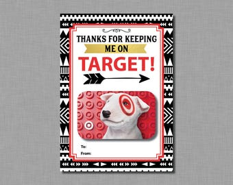 Teacher Appreciation Gift Target git Card Holder teacher gift male teacher female teacher Printable Instant Download
