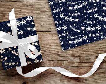 Christmas Gift Wrap - Christmas Wrapping Paper - Santa's Sleigh
