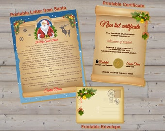 Letter from Santa and Nice List Certificate - Printables