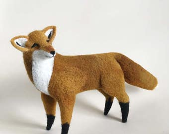 Needle Felted Fox // Fox Finger Puppet // Felted Fox // Felted Animal