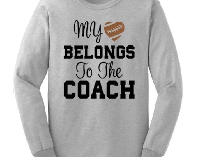 My heart belongs to the coach shirt, Coach's wife shirt, Custom basketball shirt