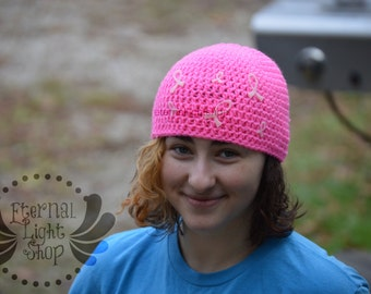 ALL SIZES/COLORS Awareness Ribbon Hat Beanie Disease Cancer
