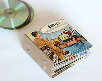 18 CD Wallet/ CD Holder Book Handmade from Upcycled Album Cover, CD Case, Dvd Album, Video Game Storage, Ready to Ship