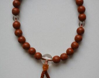 Prayer beads, Buddhist mala prayer beads, vintage Japanese juzu, onenju #9