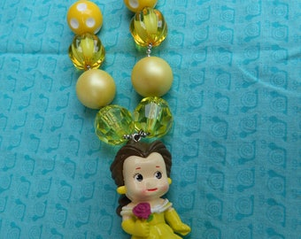 "Belle Doll 24"" Chunky Ball Bead Necklace *Ready to Ship, photo prop, girls, woman"