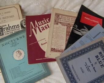 Vintage Sheet Music (lot of 9 books)Sheet Music Bulk.Sheet Music Lot.Piano Sheet Music.Music Wedding Crafts.Sheet Music Pages.Music Teacher.