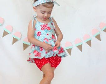 Little Girl Clothing, Bloomers, Bloomer Outfit, Spring Clothing, Little Girl Dresses, Girls Peplum Top, Baby Girl Clothing, Retro Toddler