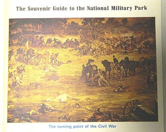 GETTYSBURG;  The Souvenir Guide to the National Military Park, 1971, Civil War Military Ephemera, Pennsylvania, 72 pages