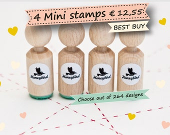 Mini ink Stamps Choose 4 out of more than 200 different designs