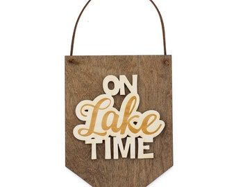 Laser Engraved - Wood Sign - Cabin Decor - Wood Wall Banner - Wooden Wall Hanging - Lake House Decor - Wall Signage - Stocking Stuffer