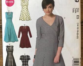 UNCUT Misses' Dress Sewing Pattern McCall's 7189 Size 14-16-18-20-22 Midi Dress, Shift Dress, Casual Dress, Easy Dress