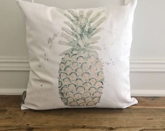 Watercolor Pineapple Pillow Cover