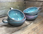 Pre Sale Purchase for Amanda - Soup Mugs in Peacock