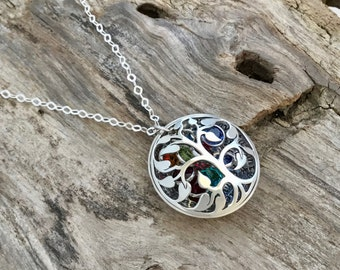Tree Necklace|Birthstone Necklace for Mom|Tree of Life Necklace|Family Tree Necklace|Tree of Life Necklace|Mother Necklace Personalize
