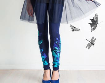 Dragonfly Reflection - leggings