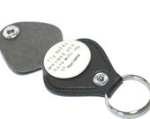 Fly Safe - Pilot Key Chain - Pocket Coin - Personalized - Hand Stamped - Love Note