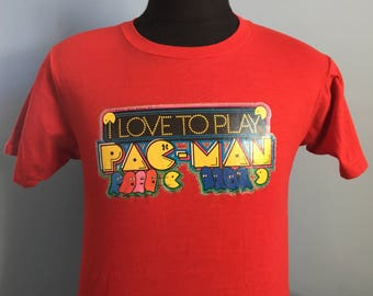 80s Vintage Pac-Man Midway video game T-Shirt - MEDIUM