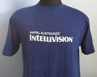 80s Vintage Intellivision Mattel Electronics video game T-Shirt - LARGE