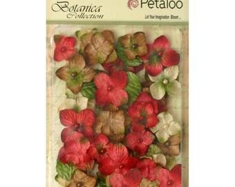 VELVET FLOWERS, Velvet Hydrangea Petals, Velvet Petals, Flat Paper Flowers, Petaloo Flowers, Vintage Flower Petals, Vintage Paper Flowers