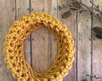Mustard Toddler Scarf - Mommy and Me Scarf - Kids Scarf - Mustard Baby Scarf - Toddler Infinity Scarf - Knit Toddler Cowl - Kids Autumn