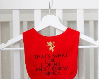 Game Of Thrones Style Lannister Bib