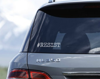 Decal #Resist Car Laptop Glass-surface Decal AntiTrump