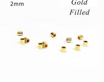 Gold Filled Crimp Beads 2 mm RZ002Y