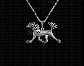 Chinese Crested (naked ears) movement - sterling silver pendant and necklace