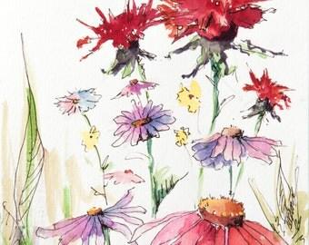 Watercolor Wildflowers 2 ORIGINAL