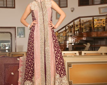 Pink and Magenta Bridal outfit, pakistani wedding, indian bridals, women's clothing, wedding trousseau collection