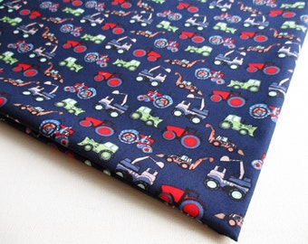 Boy Toy, Truck, Car, Crane, Caterpillar, Cotton fabric, boy shirt, kid, baby shower, ipad case, children clothes, pillow cover,boy bag CT597